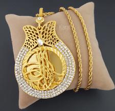 Osmanli Tugra Taki Gold Münze Kette 22 Karat GP Altin Kaplama Cumhuriyet XXL NEU