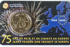 COINCARD 2,50 EURO COMMEMO 2020 BELGIQUE 75 ANS PAIX LIBERTE(FR-ALL)