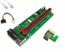 PCI-E Express 1x to 16x Extender Adapter Riser Card USB Cryptocurrency Mining