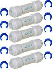"5 x 1/4"" RO Reverse Osmosis Pushfit Quick Fitting Connector Straight Check Valve"
