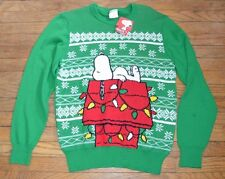 Snoopy Peanuts Holiday Christmas Sweater Size Medium Adult Mens
