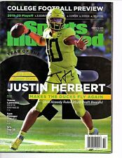 Justin Herbert Reprinted autographed signed Sports Illustrated 8.5x11 photo