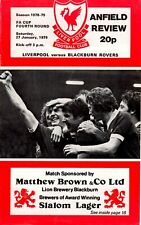 Liverpool v Blackburn Rovers programme, FA Cup 4th Round, January 1979