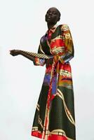 Womens Flowing Belt Print Tunic Shirt Dress Chain Size Shirt Dress Long Floral
