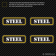 (4x) Steel Ammo Can Sticker Set Decal Self Adhesive molon bullet type 2