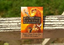 Walt Disney Lion King Special Edition First Time on DVD Movie Pin Pinback Button