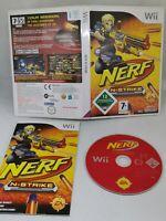 NERF N-Strike Nintendo Wii 2009 Complete PAL GAME ONLY