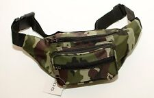 New Strong Green Camouflage Canvas Zipped BumBag/ Bum Bag