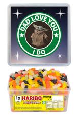 Star Wars Baby Yoda Fathers Day Haribo Sweets Tub Gifts