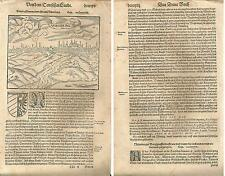 1588 NURNBERG Cosmographia universali Seba. Münster Nuremberg Nürnberg Bayern