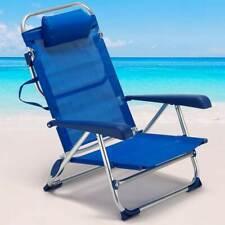 Spiaggina Sedia Prendisole Pieghevole Mare Spiaggia Sdraio Reclinabile Blu