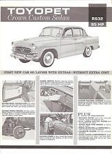 Toyota Single Sheet Toyopet Crown Custom Sedan     Circa 1960