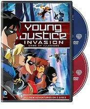 Young Justice Invasion . Season 2 Episodes 11-20 . Game Of Illusions . 2 DVD NEU