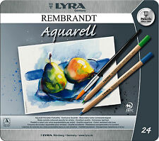 24 X Lyra Rembrant Aquarell Lápices artista colorante soluble en agua En Lata De Regalo