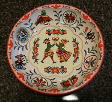 Vintage Round Tin Dish Cross Stitch Design Daher Decorated Ware Made in England