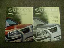 1999 Suzuki Genuine Accessories Confidential Pricing Application Guide Manual 99