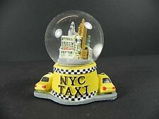 New York Schneekugel Snowglobe,6 cm,Empire State Building,Liberty,Taxi