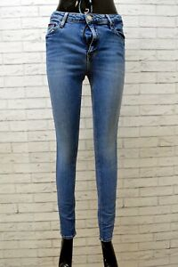 Jeans Donna Tommy Hilfiger Taglia 44 Pantalone Skinny Vita Alta Blu Denim Woman