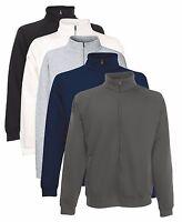 Fruit Of The Loom Plain Full Zip Up Sweatshirt Sweat Jumper Jacket No Logo