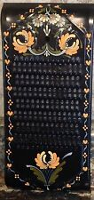 Hand Painted Folk Art Tole Toleware Metal Grater Signed Jan