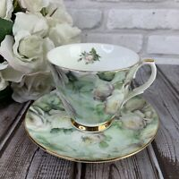 Royal Patrician White Rose Chintz Tea Cup Saucer English Fine Bone China | Used