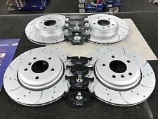 BMW 330 330D 330CI E46 BRAKE DISC FRONT REAR CROSS DRILLED GROOVED BRAKE PAD