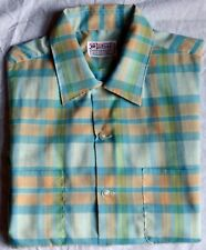 1950s Loop Collar Mens Shirt from Windsor Large Ss Exc