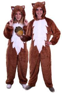 ★ Eichhörnchen Braun Kostüm Tier ,Tierkostüm S,M,L,XL Unisex Weich Deluxe