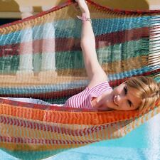 SALE-Beautiful handmade Mexican large hammock in beautiful colours