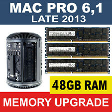 48GB (3 X 16GB) Memory for Mac Pro 2013 6,1 PC3-14900 DDR3 ECC Reg MF622G/A