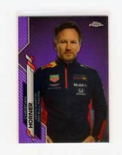 New listing 2020 Topps Chrome Formula 1 Purple Refractor Red Bull Christian Horner #/399 #90