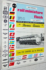 RMF RAIL MINIATURE FLASH N°34 1965 TRAINS LOCOMOTIVES / CC DIESEL SNCB
