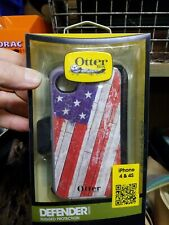 Otter Box Defender Series Case for iPhone 4/4s Grey/American Flag New Lot of 17