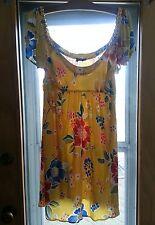 DOLCE & GABBANA Yellow sundress cold shoulder sz  6 8 chain detail