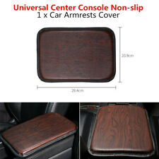 PU Leather Armrest Box Protect Pad Wood Grain Car Cover Center Console Non-slip