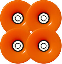 76mm ORANGE Longboard Skateboard Wheels Abec 9 Bearings
