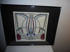 ABSTRACT DESIGN FRAMED TAPESTRY OR WEAVING - STUNNING AND RARE ART!