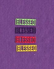 New listing Word Rectangle Blessed die cuts scrapbook cards