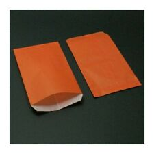 Boîte de 250 sachets cadeaux kraft orange 11+5x21cm - 8022