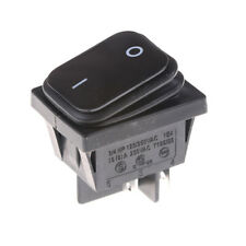 4Pin 2Position Circuits DPST ON-OFF Rocker Switch 16A 250V Black Waterproof