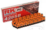 RK Standard Motorcycle Drive Chain 428 SB / 144L Orange with Spring Link
