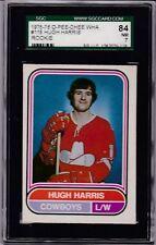 1975 OPC WHA #118 HUGH HARRIS (RC) SGC 84 NM 7 O-PEE-CHEE Calgary COWBOYS