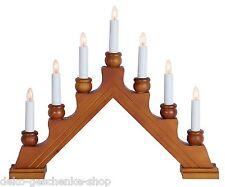 Arc à lumière à bougies éclairage pour fenêtres chandelier Suédois 7 Marron