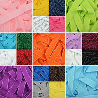 Saddle Stitched Grosgrain Ribbon in 26 Plain Solid Colours 10mm 15mm 25mm