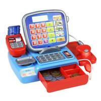 Kids Toys Cash Register Supermarket Cashier Kids Role Play Pretend Shopping Gift