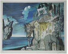 Salvador Dali Lithograph Hand Signed in PENCIL & Numbered BLUE Dark HORSE Framed
