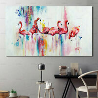 Abstract Flamingo Canvas Painting Poster Print Wall Art Picture Home Decor