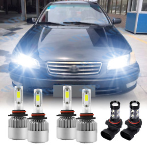 For Toyota Camry 2002 2003 2004 2005 2006 6X LED Headlight Fog Light Bulbs KIT