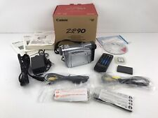 Canon Zr90 MiniDv Video Camera Camcorder W/Accessories Parts or Repair Bad Lens