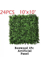 "24pcs 10""x10"" Artificial Grass Mat / Wall Hedge Decor Privacy Fence Panel Grass"